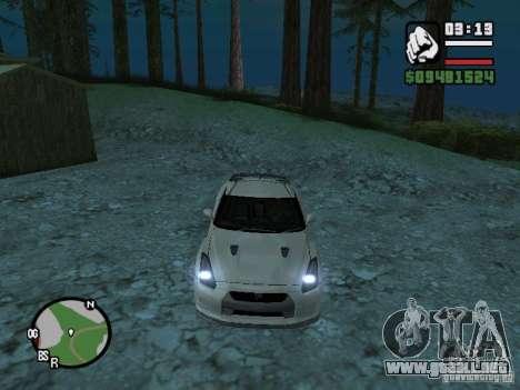 Nissan Skyline GTR para visión interna GTA San Andreas