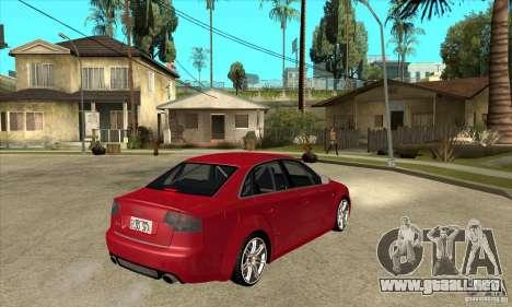 Audi RS4 2006 para la visión correcta GTA San Andreas