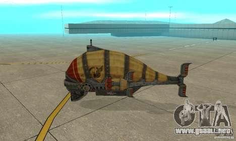 Dirigible de TimeShift para GTA San Andreas vista posterior izquierda