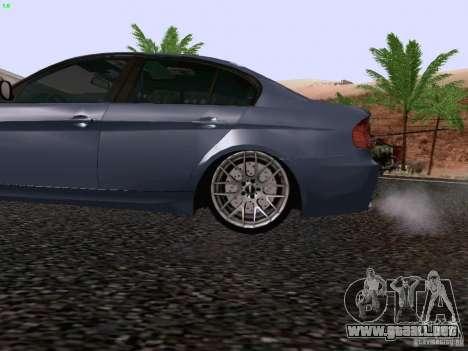 BMW M3 E90 Sedan 2009 para GTA San Andreas vista hacia atrás
