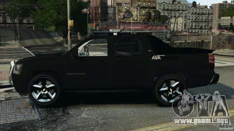 Chevrolet Avalanche 2007 [ELS] para GTA 4 left