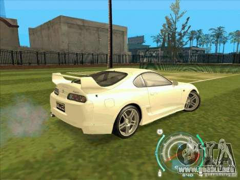 Toyota Supra from 2 Fast 2 Furious para visión interna GTA San Andreas