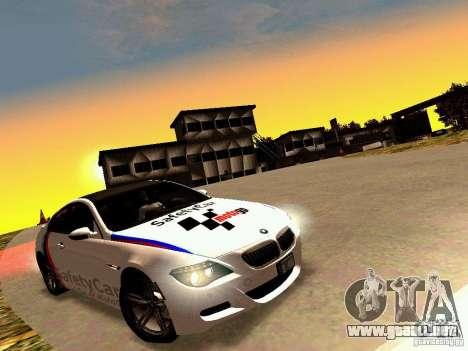 BMW M6 MotoGP SafetyCar para visión interna GTA San Andreas