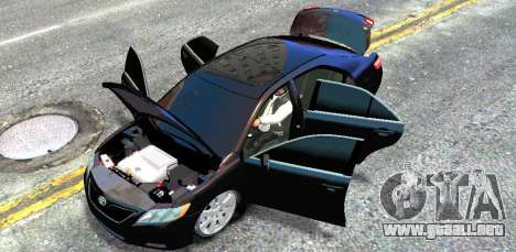 Toyota Camry V6 3.5 2007 para GTA 4 vista interior