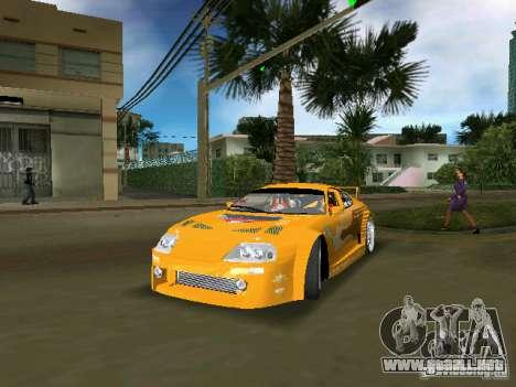Toyota Supra para GTA Vice City vista posterior