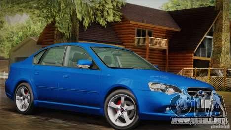 Subaru Legacy 2004 v1.0 para la visión correcta GTA San Andreas