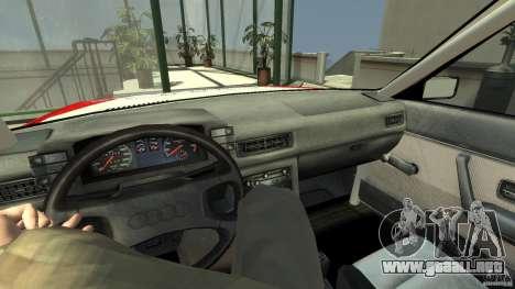 Audi 80 B2 Quattro Rally para GTA 4 visión correcta