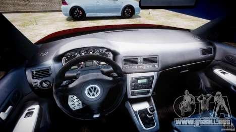 Volkswagen Golf IV R32 v2.0 para GTA 4 vista hacia atrás