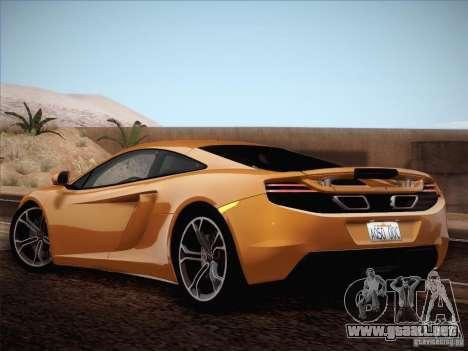 McLaren MP4-12C BETA para visión interna GTA San Andreas