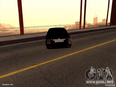 Lada 2170 Priora para vista lateral GTA San Andreas