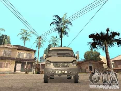 2705 Gacela para GTA San Andreas vista hacia atrás