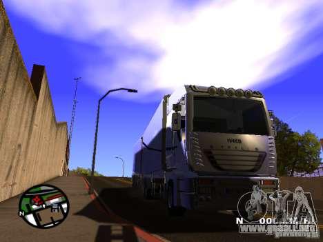 Iveco Stralis para GTA San Andreas vista posterior izquierda