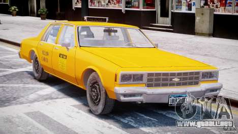 Chevrolet Impala Taxi 1983 [Final] para GTA 4 left