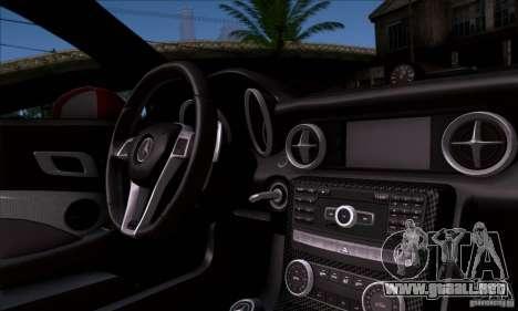 Mercedes Benz SLK55 R172 AMG para GTA San Andreas vista hacia atrás