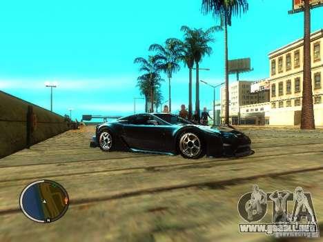 Lexus LFA para la visión correcta GTA San Andreas