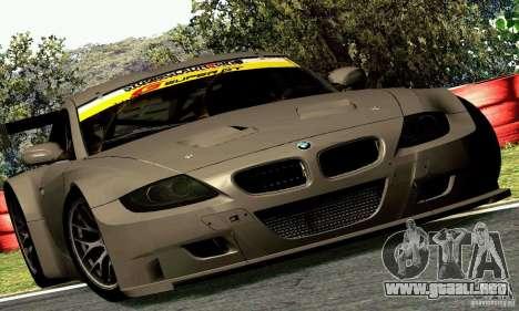 BMW Z4 E85 M GT 2008 V1.0 para GTA San Andreas vista hacia atrás