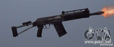 Izhmash Saiga-12K para GTA San Andreas sucesivamente de pantalla