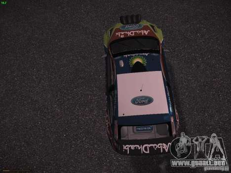 Ford Focus RS WRC 2010 para visión interna GTA San Andreas