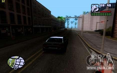 ENBSeries by VadimSpiridonov para GTA San Andreas sucesivamente de pantalla