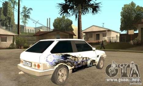 VAZ 2108 sintonizado para la visión correcta GTA San Andreas