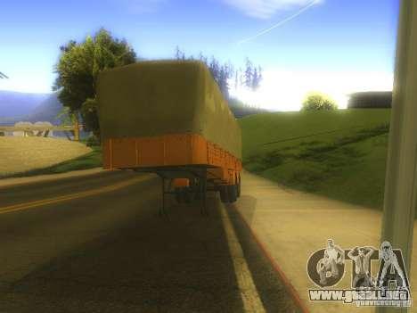 Remolque MAZ 5205 para GTA San Andreas left