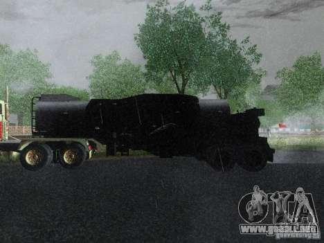 Remolque blindado combustible Mack Truck Titan para GTA San Andreas left