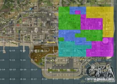 Mapa de San Andreas con actualización v7 para GTA San Andreas segunda pantalla