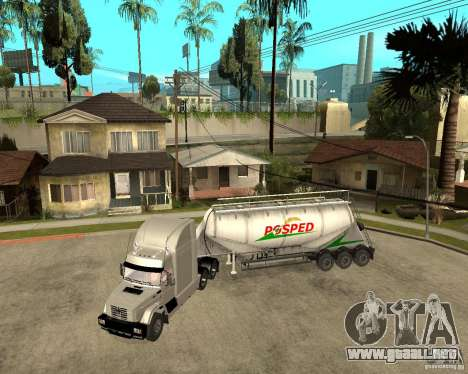 Parche acoplado v_1 para GTA San Andreas vista posterior izquierda