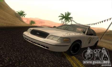 Ford Crown Victoria California Police para GTA San Andreas
