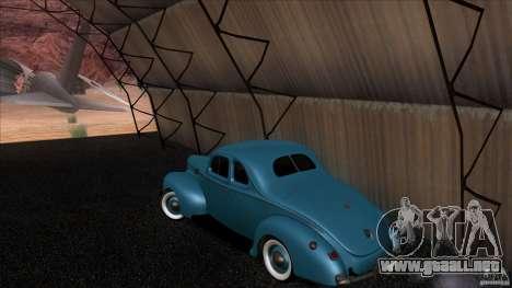 Ford Deluxe Coupe 1940 para GTA San Andreas vista posterior izquierda