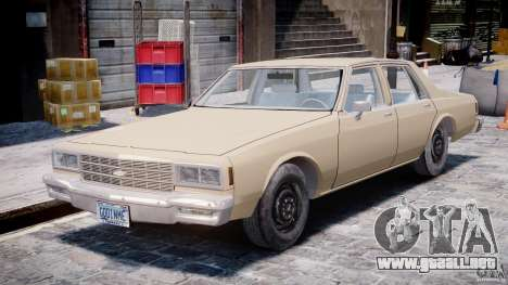 Chevrolet Impala 1983 para GTA 4 left
