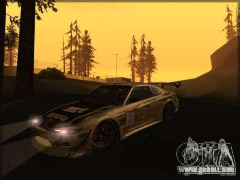 Nissan Silvia S15: Kei Office D1GP para GTA San Andreas left