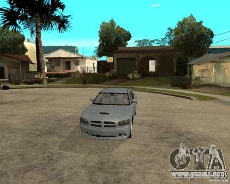 Dodge Charger SRT8 para visión interna GTA San Andreas