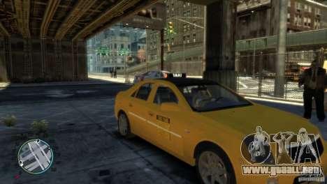 Cadillac CTS-V Taxi para GTA 4 Vista posterior izquierda