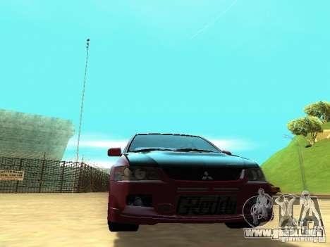 Mitsubishi Lancer IX MR para GTA San Andreas vista hacia atrás