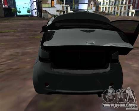 Aston Martin Cygnet para visión interna GTA San Andreas