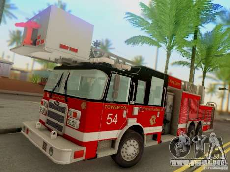 Pierce Tower Ladder 54 Chicago Fire Department para GTA San Andreas