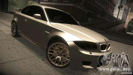 BMW 1M E82 Coupe 2011 V1.0 para GTA San Andreas vista hacia atrás