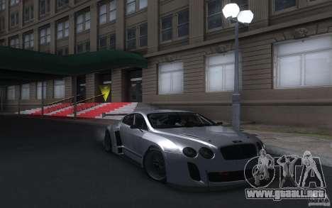 Bentley Continental Super Sport Tuning para GTA San Andreas vista posterior izquierda