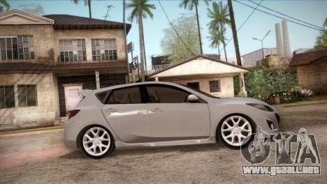 Mazda Mazdaspeed3 2010 para la vista superior GTA San Andreas