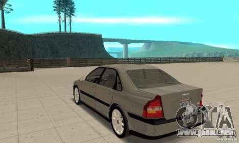 Volvo S80 1999 para GTA San Andreas vista posterior izquierda