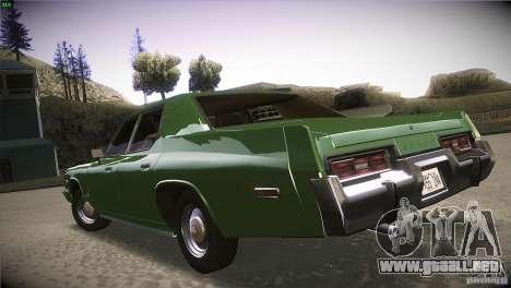 Dodge Monaco para GTA San Andreas vista hacia atrás