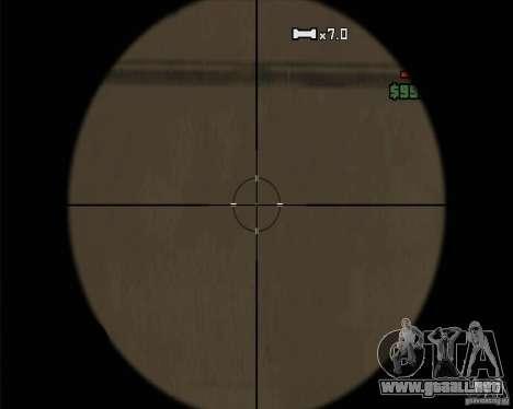 Campanas y silbatos para armas para GTA San Andreas octavo de pantalla