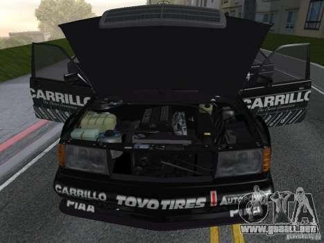 Mercedes-Benz 190E Racing Kit1 para la visión correcta GTA San Andreas