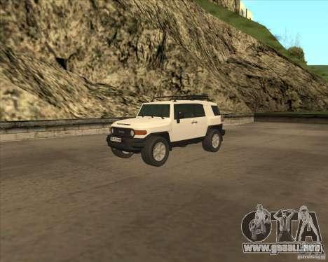 Toyota FJ Cruiser para vista inferior GTA San Andreas