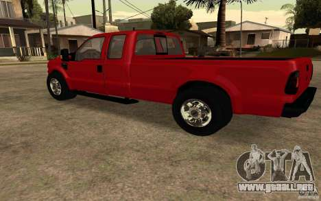Ford F250 Super Dute para GTA San Andreas left