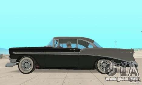 Chevrolet Bel Air 1956 para GTA San Andreas vista posterior izquierda