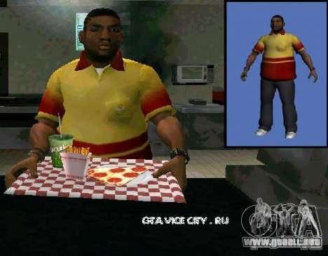 Nueva pizza de vendedor para GTA San Andreas