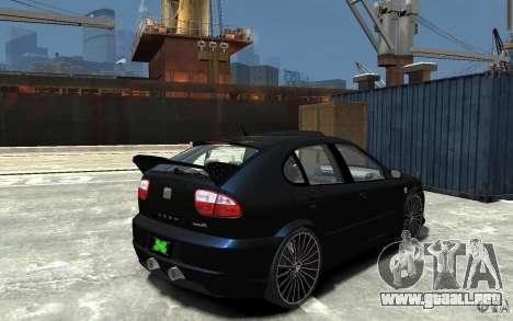 Seat Leon Cupra R para GTA 4 visión correcta