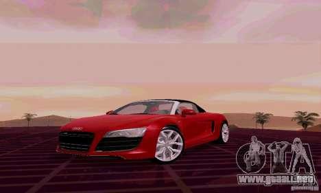 Audi R8 V10 Spyder 5.2. FSI para GTA San Andreas left